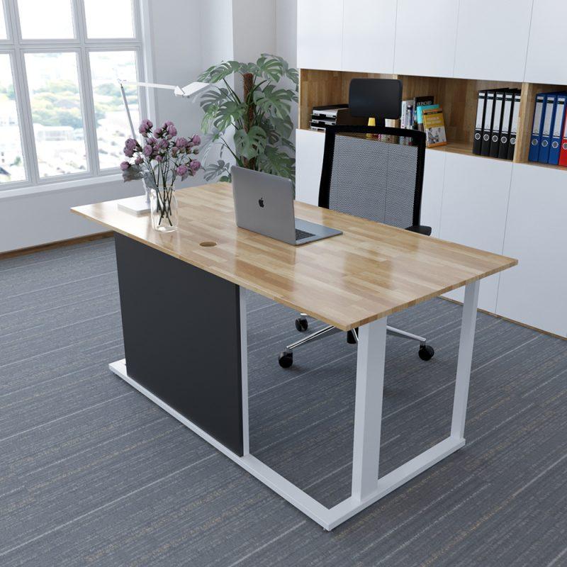 bàn giám đốc gỗ cao su
