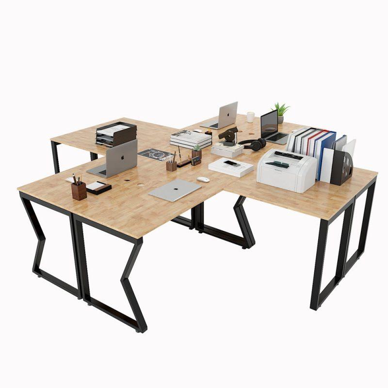 cụm bàn làm việc chữ L 4 chỗ