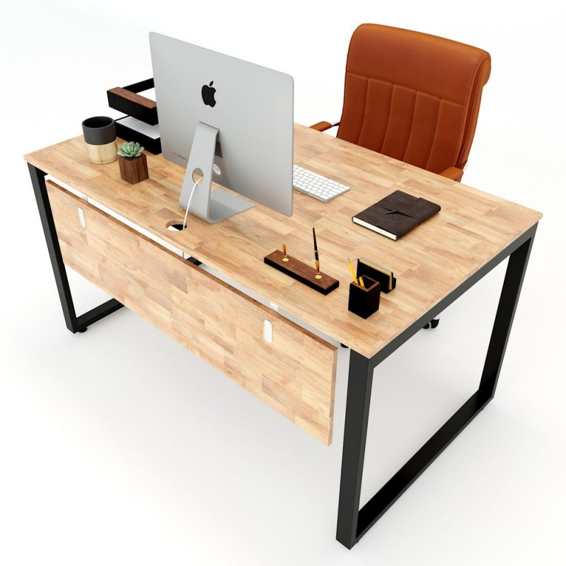 bàn làm việc gỗ cao su