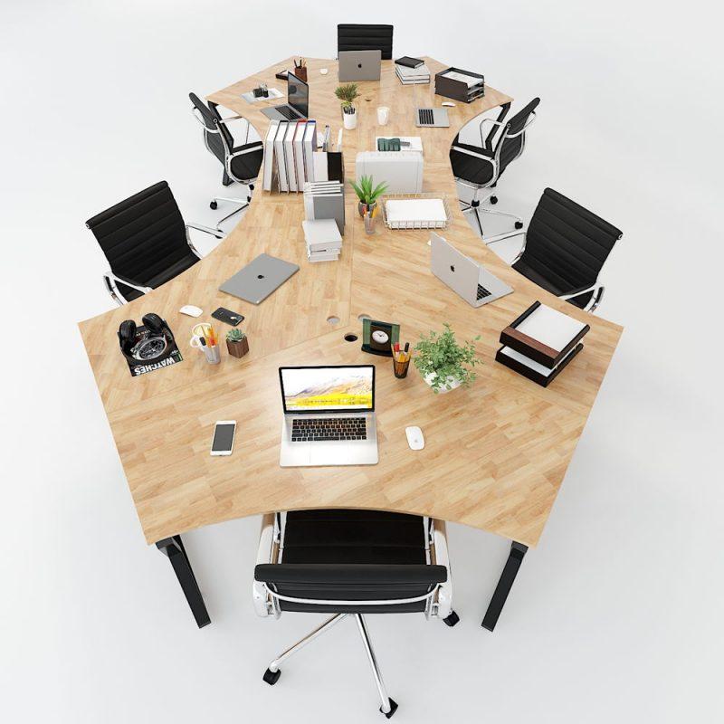 bàn làm việc 6 chỗ ngồi