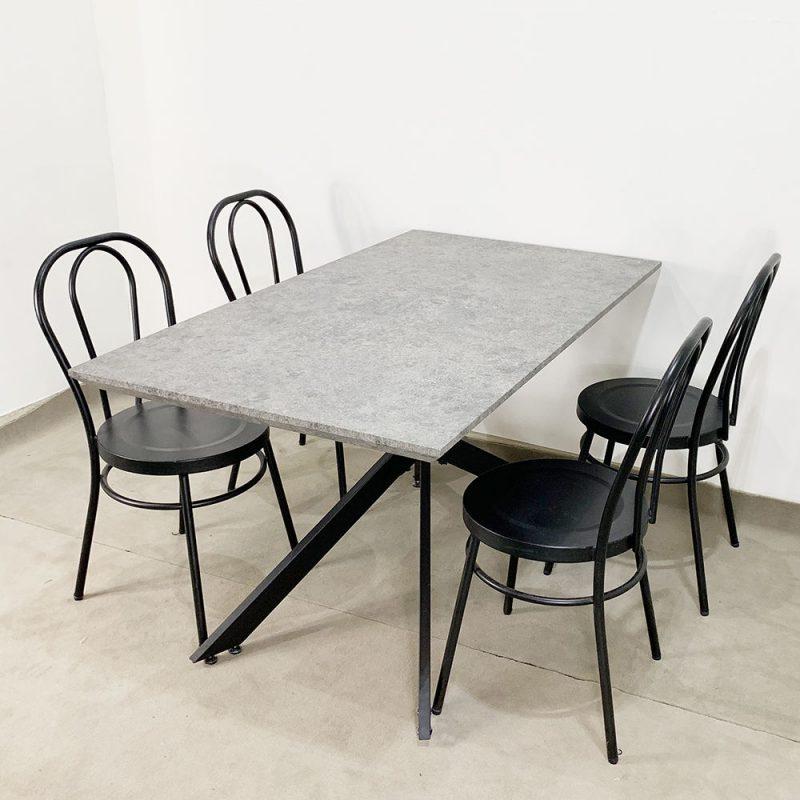 bộ bàn ăn giả đá