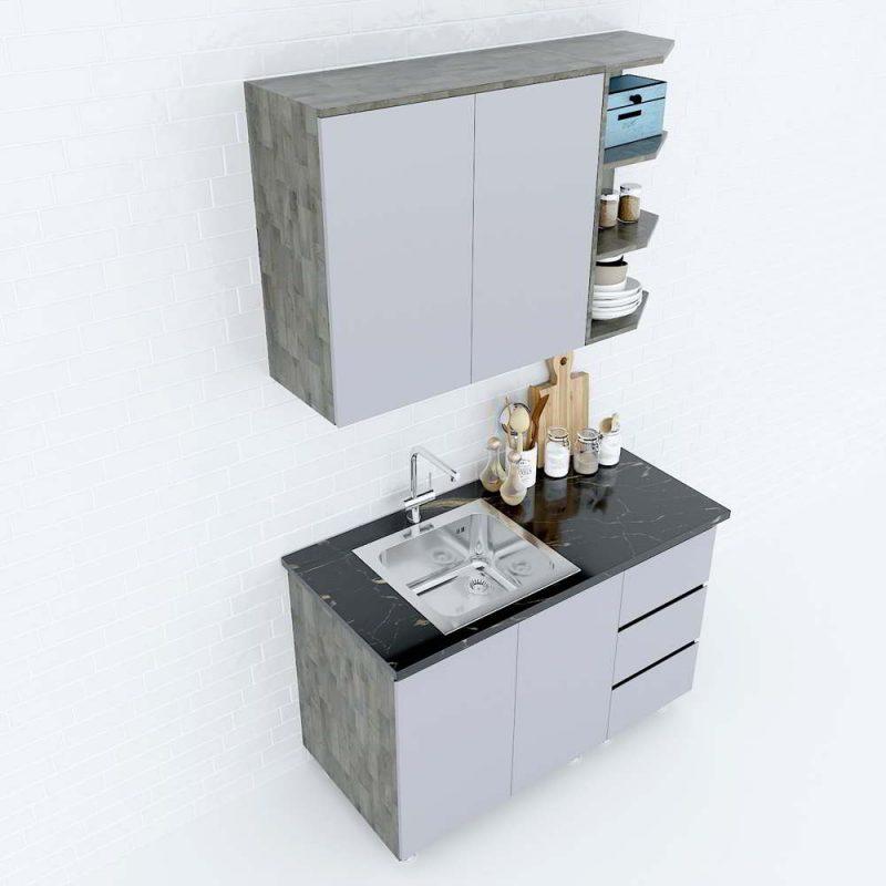 hệ tủ bếp mini hiện đại