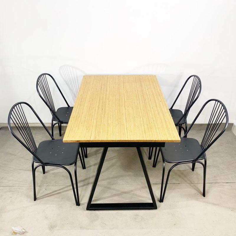 Bộ bàn ăn gỗ tre