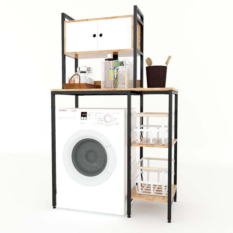 kệ máy giặt kèm hộc tủ
